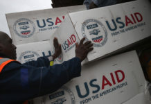 Trump aides mull new foreign aid logo for the 'America First' era