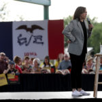 Kamala Harris bets it all on Iowa to break freefall