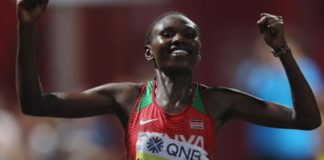 World Athletics Championships: Ruth Chepngetich wins women's marathon as many pull out in heat