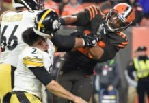 Myles Garrett: Cleveland Browns player 'suspended indefinitely' by NFL for helmet attack