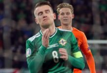 Euro 2020 qualifier: Davis misses penalty as NI draw with Netherlands in Belfast