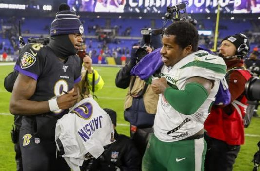 Lamar Jackson: Baltimore Ravens quarterback breaks NFL rushing record in win