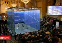 Squash seeks recognition in famed NYC rail station
