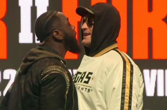 Wilder and Fury face off in news conference